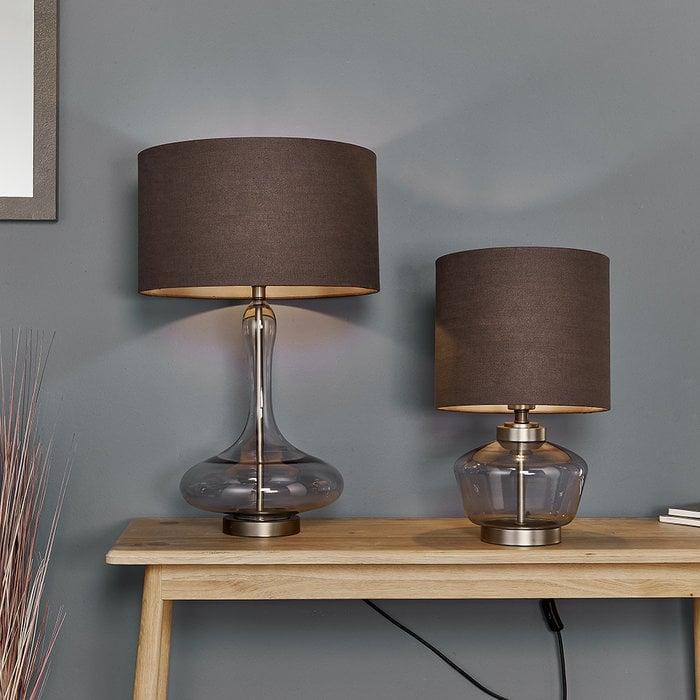 Kiki - Grey tinted Glass Table Lamp