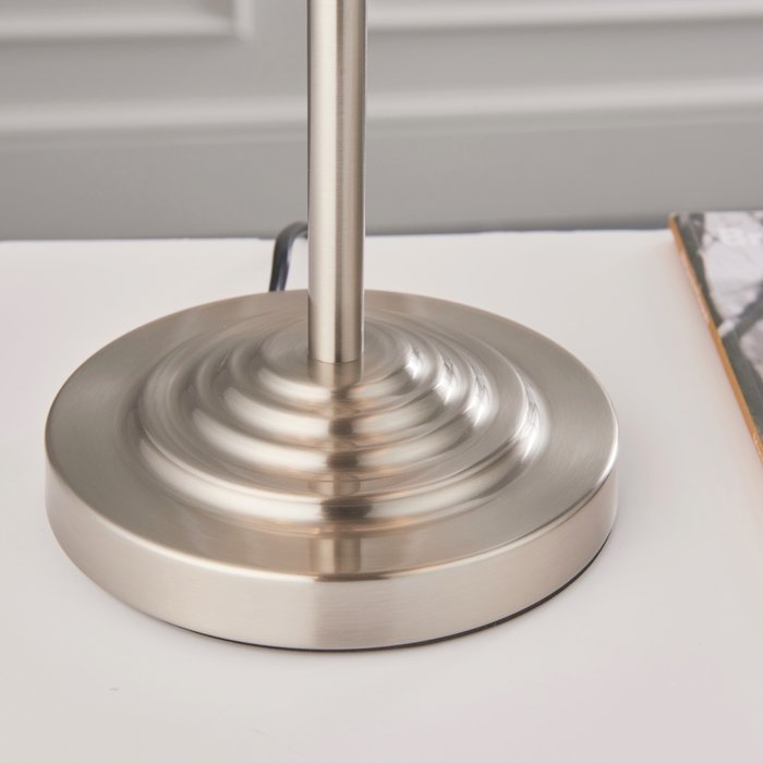 Townhouse - Chandelier Table Lamp - Duck Egg Linen & Brushed Chrome