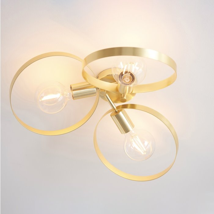 Hoop - Brushed Brass Low Ceiling Feature Light