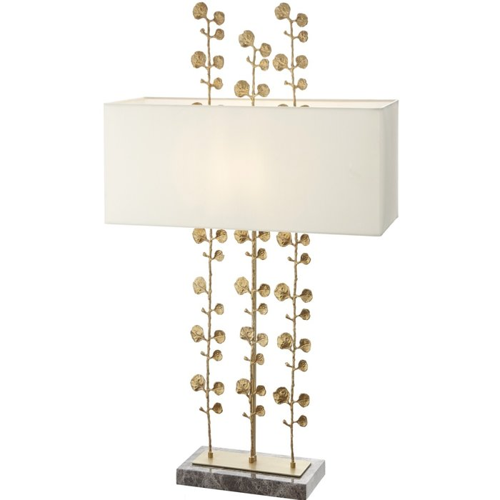 Eucalyptus - Large Solid Brass Leaf Table Lamp