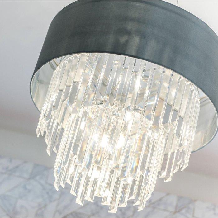 Hailey - Modern Art Deco Tiered Crystal Drum Statement Light