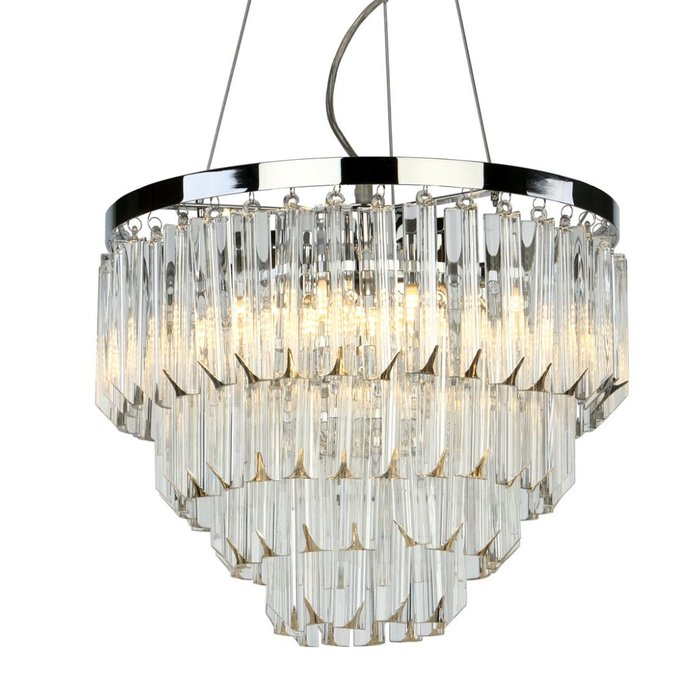 Prism - Modern Art Deco Tiered Crystal Chandelier