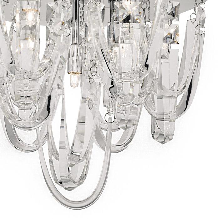 Rosanne - Crystal Curves Flush Ceiling Light