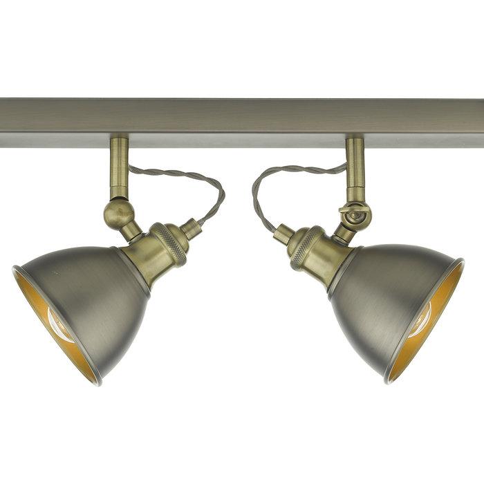 Croft - 4 Bar Spotlight Vintage Ceiling Fitting