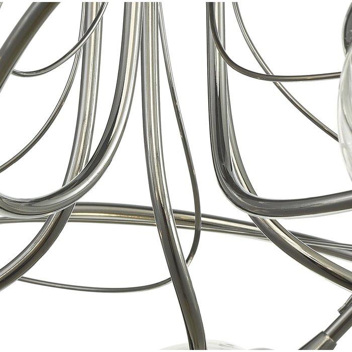 Ottawa -  5 Light Semi Flush Smoked Glass Fitting - Polished Chrome