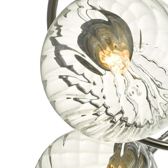 Ottawa -  3 Light Semi Flush Glass Fitting - Polished Chrome