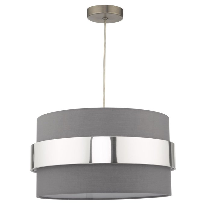 Sash - Modern Grey & Chrome Easy Fit Shade