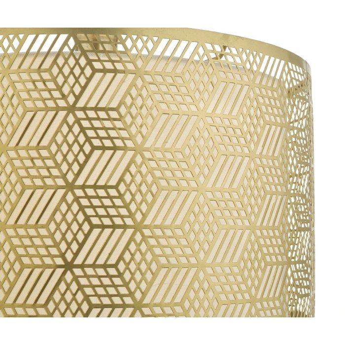 Munro  - Geometric Gold Drum Easy Fit Shade