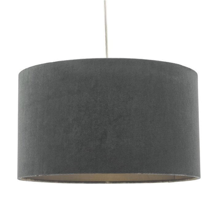 Akira - Grey Velvet Easy Fit Lampshade
