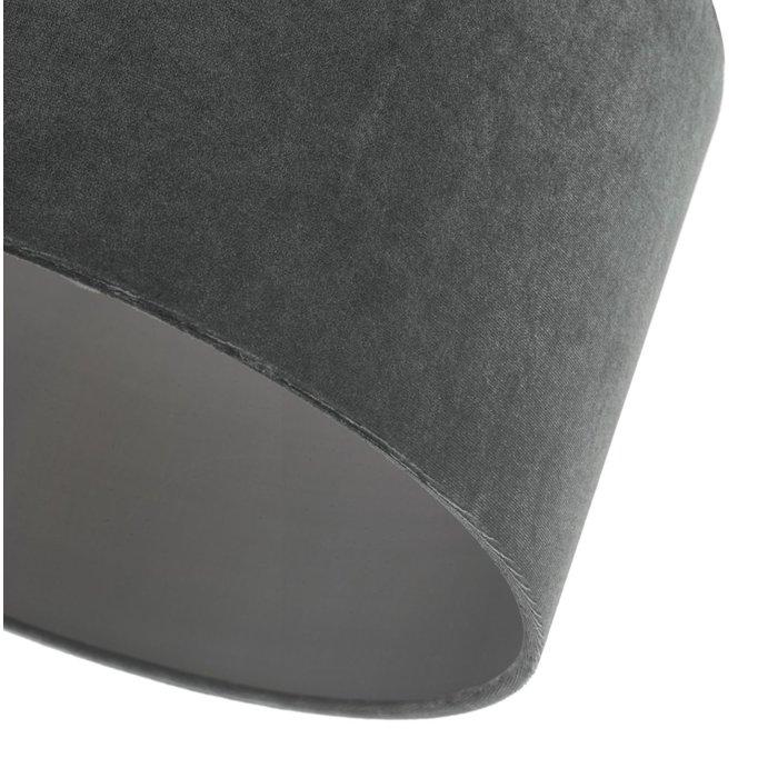 Akira - Grey Velvet Easy Fit Lampshade