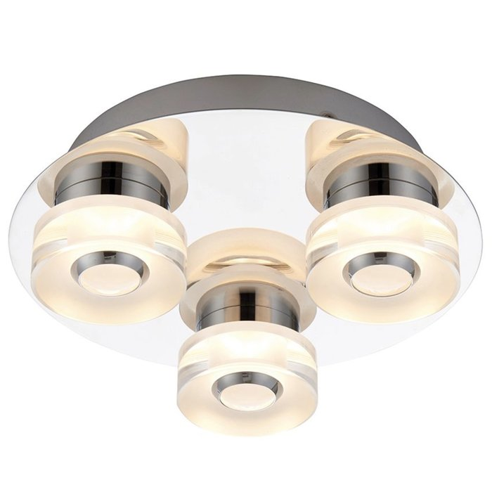 Olympia - 3 Light Modern Colour Changing  LED Bathroom Flush Ceiling Light