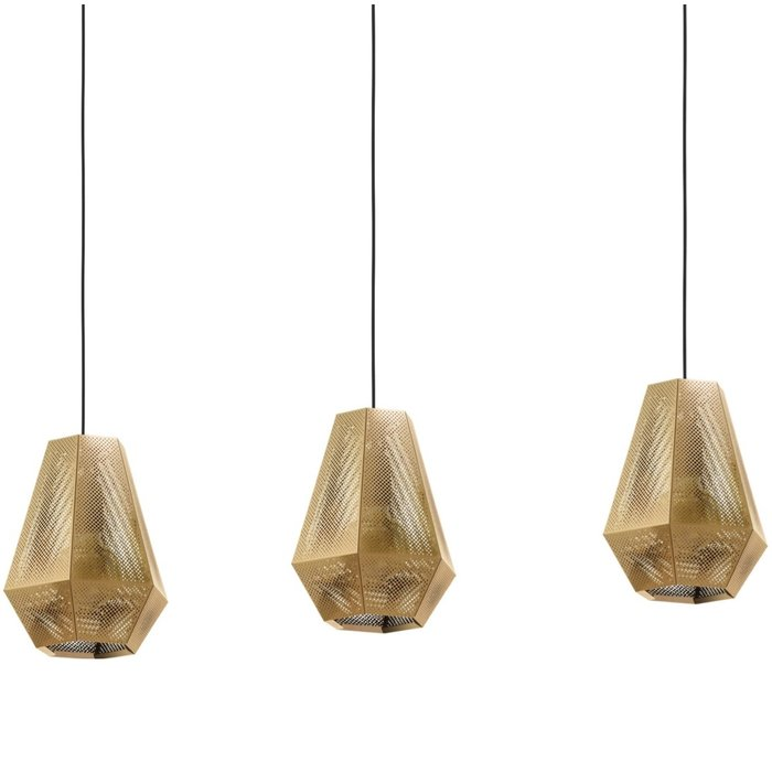 Sketch - Pierced Brass Designer Bar 3 Light Pendant