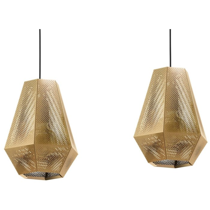 Sketch - Pierced Brass Designer Bar 3 Light Pendant