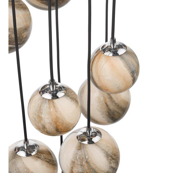 Marble  - Art Glass Cluster Cascading Pendant Light