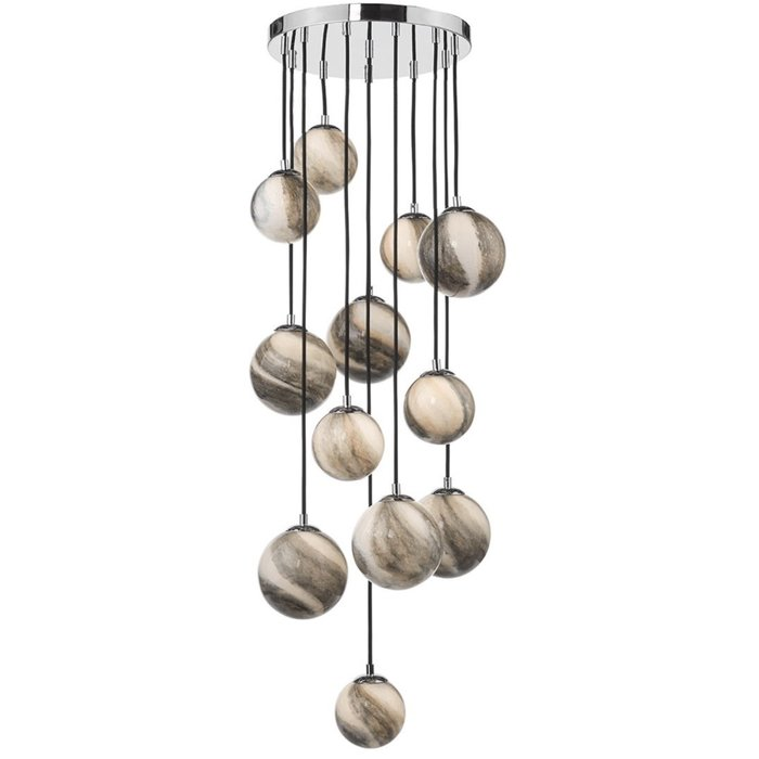 Marble  - Art Glass Cluster Cascading Pendant Light