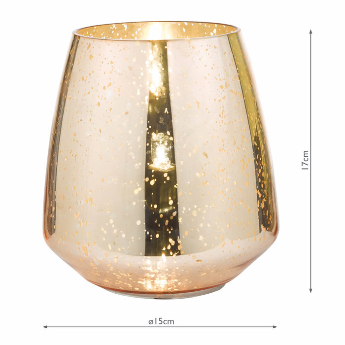 Copper Touch Table Lamp - Black Shade