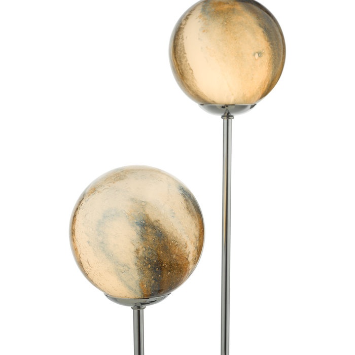 Marble - Planet Art Glass Touch Lamp - Polished Chrome