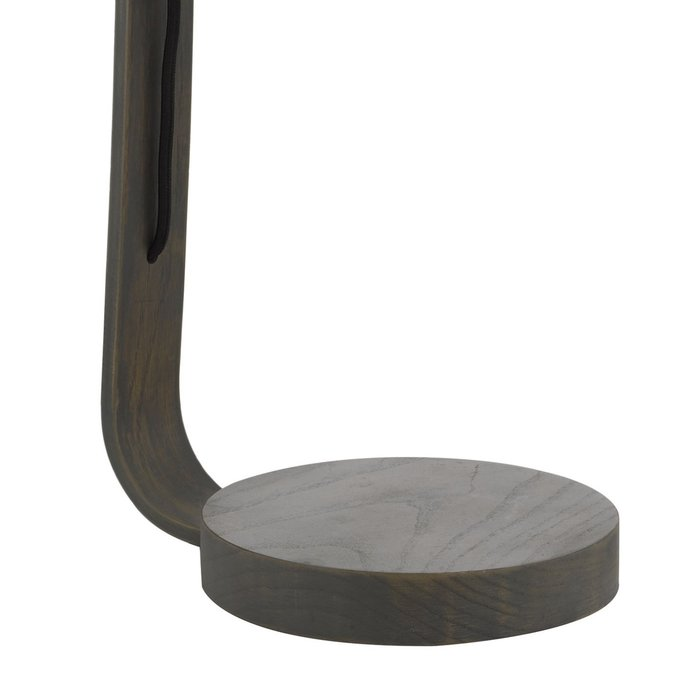 Isaiah - Contemporary Grey Washed Wood Table Lamp