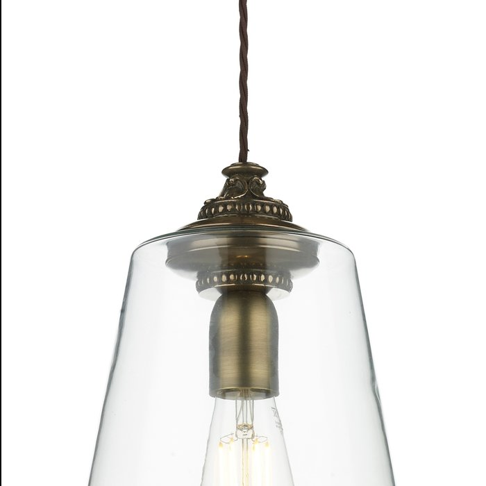 Oyster - Intricate Bronze & Glass Industrial Pendant Light - David Hunt