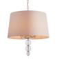 Daphne  - Boutique Hotel Style Drum Ceiling Light - Biege & Polished Nickel