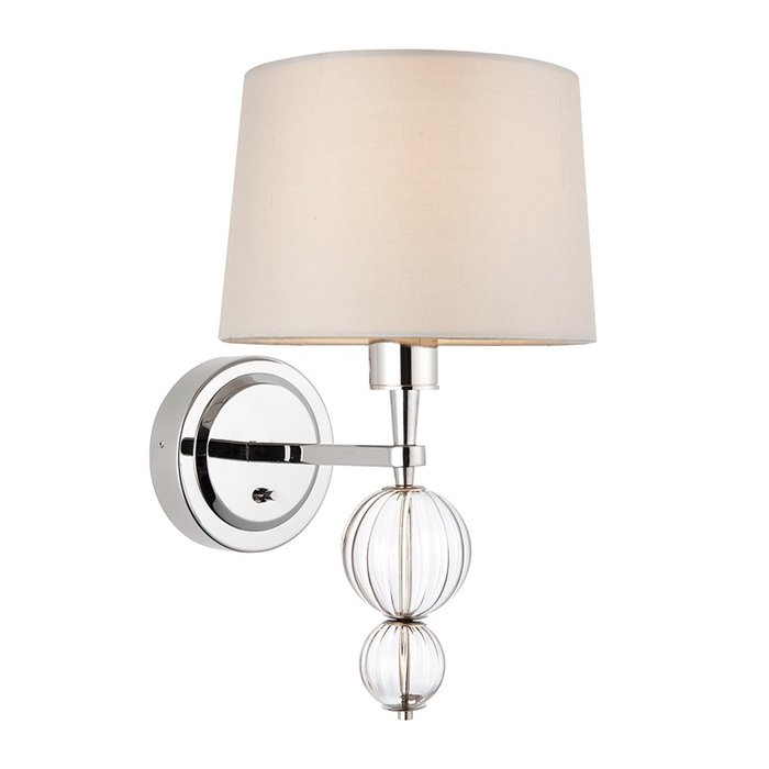 Daphne  - Boutique Hotel Style Wall Light - Biege & Polished Nickel