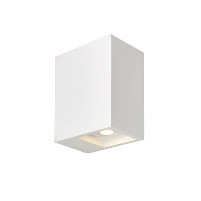 Tor - Modern Twin White Plaster Up & Down Wall Light