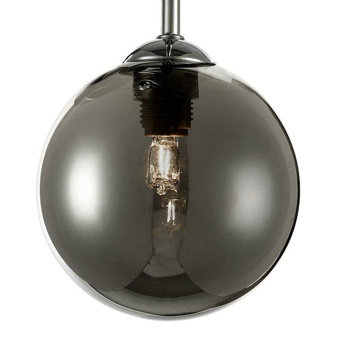 Freya - 3 Light Smoked Glass Ceiling Light - Polished Chrome