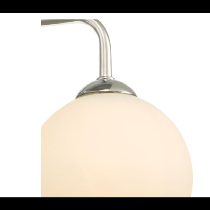 Freya - 3 Light Opal Glass Ceiling Light - Polished Chrome