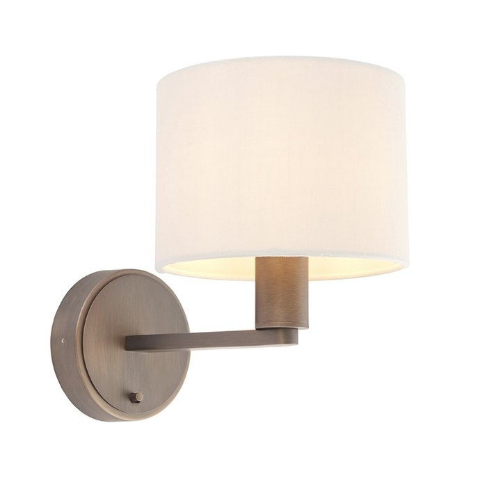 Thomas - Modern Hotel Style Wall Light - Antique Bronze & Marble Shade