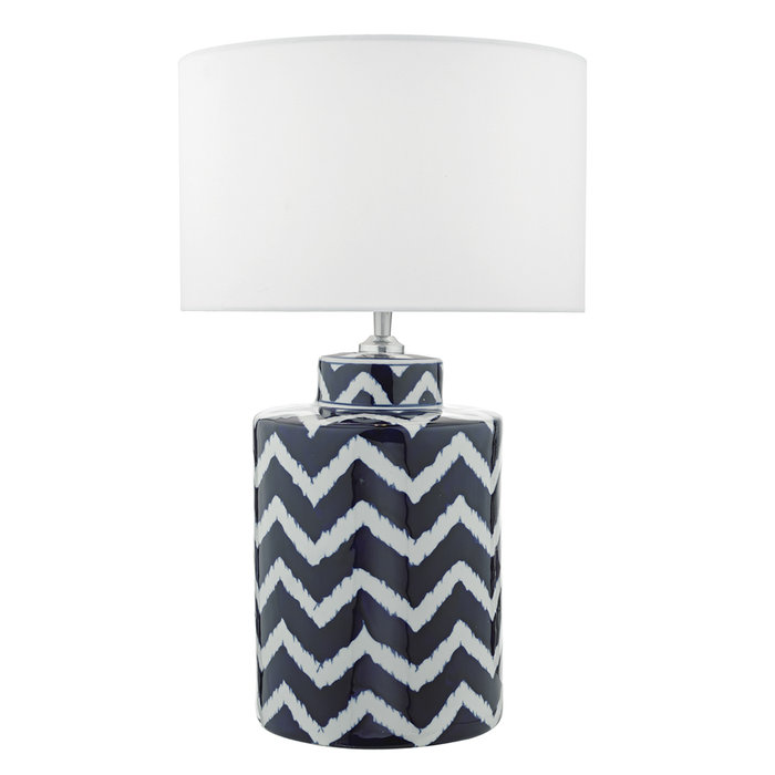 Cox - Blue & White Striped Ceramic Table Lamp