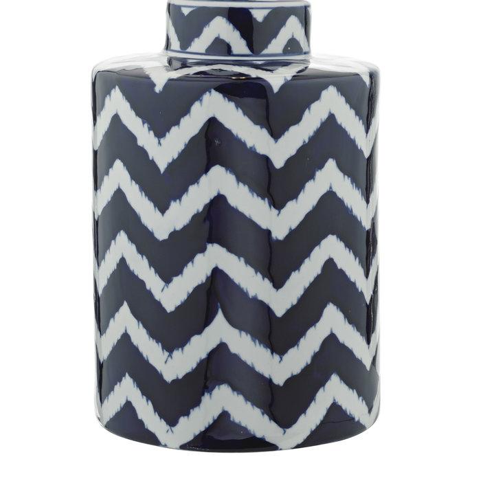 Cox - Blue & White Striped Ceramic Table Lamp