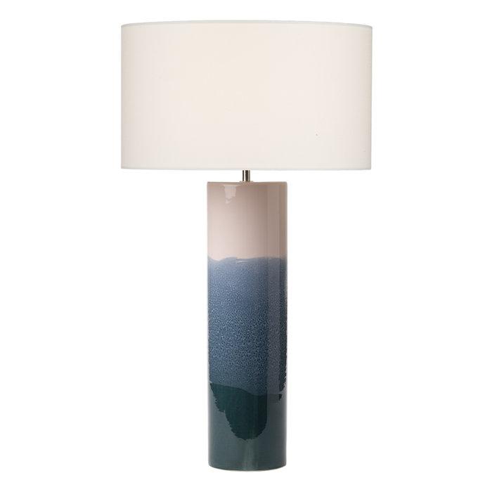 Francisco - Handmade Portuguese Ceramic Pink & Blue Table Lamp