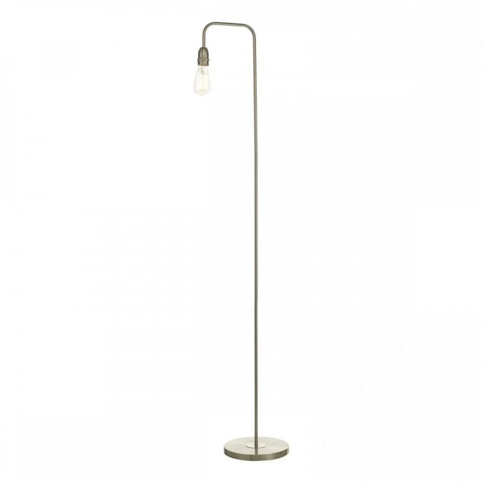 Rod - Minimalist Industrial Stick Floor Lamp - Satin Chrome