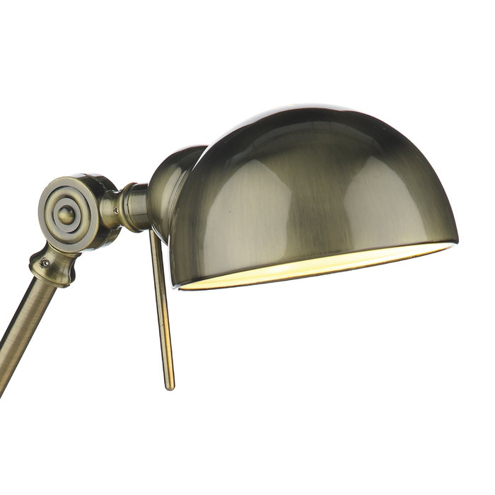 Rover - Jointed Industrial Desk Lamp - Antique Brass