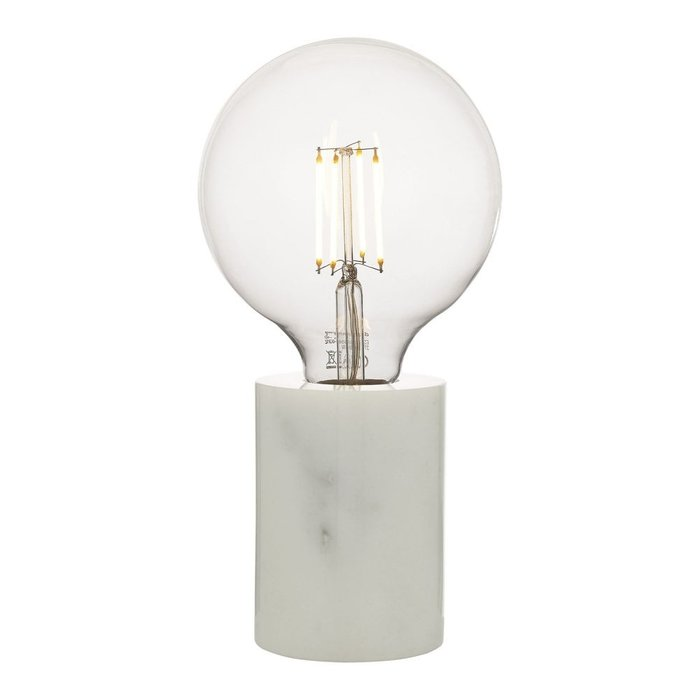 Jackson - Solid White Marble Table Lamp