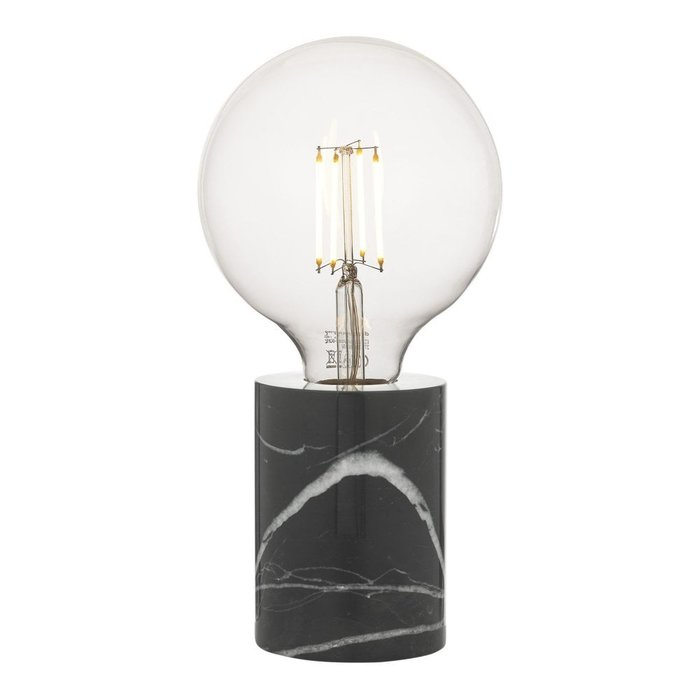 Jackson - Solid Black & White Marble Table Lamp