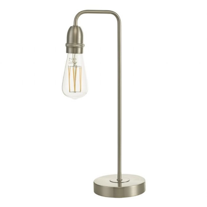 Rod - Satin Chrome Industrial Stick Table Lamp