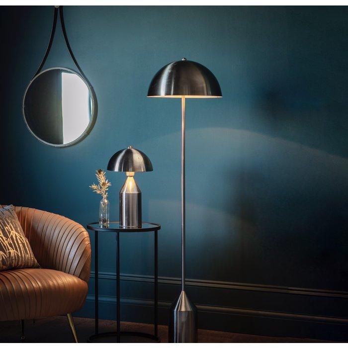 Mid Century Nickel Dome Table Lamp