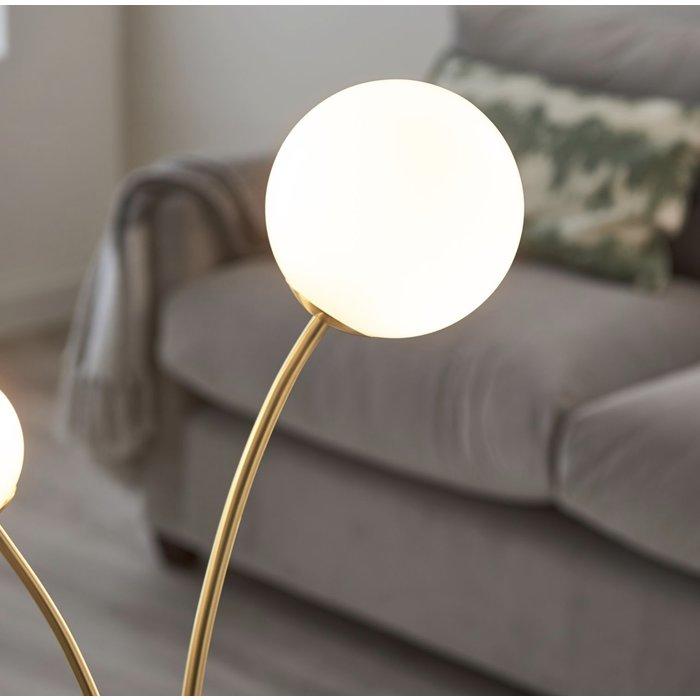 Fig - Modern Scandi Twin Opal Globe Table Lamp