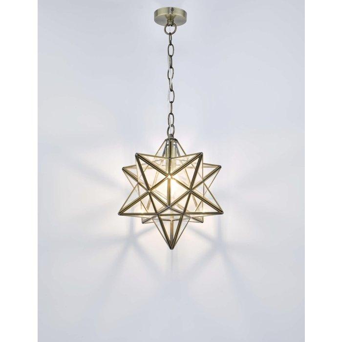 Sirius - Glass Panelled Star Pendant - Large