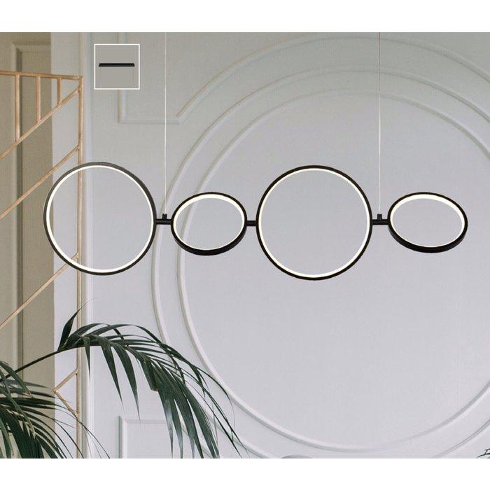 Halo - LED Ring Bar Pendant - Matt Black - Dimmable