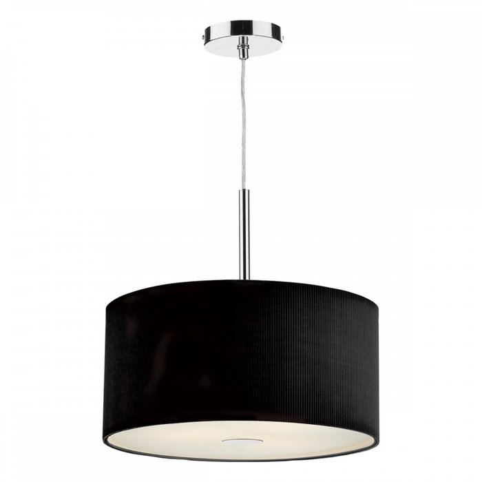 Giza - Black Micro Pleat Hotel Style Drum Pendant - 40cm