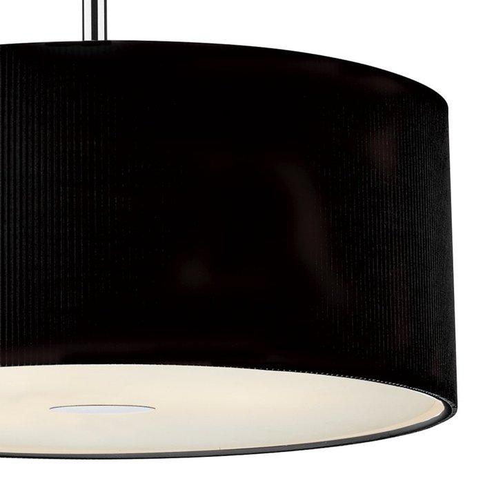 Giza - Black Micro Pleat Hotel Style Drum Pendant - 60cm