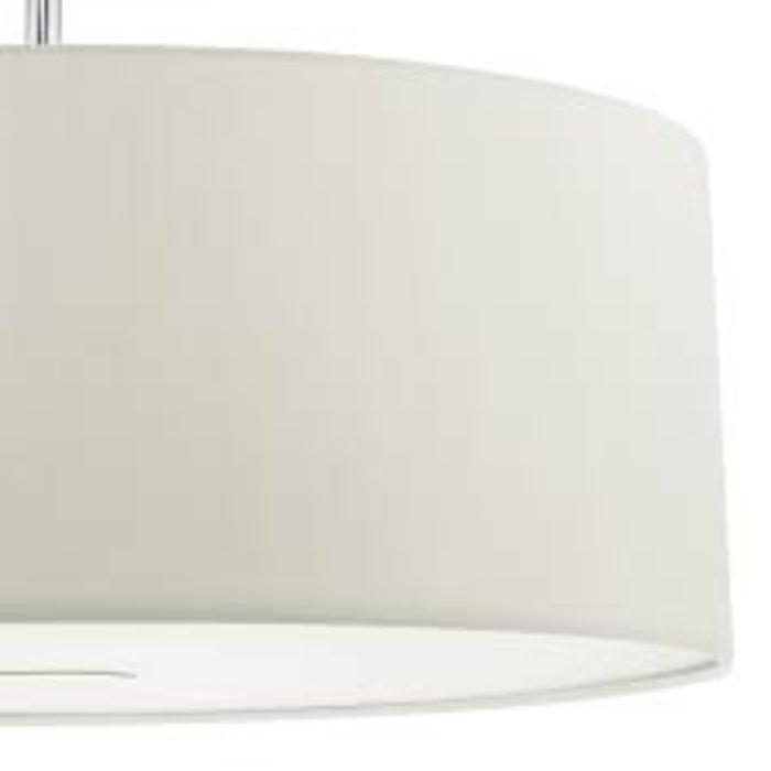 Porcelain White Easy Fit Drum Pendant Shade - 60cm