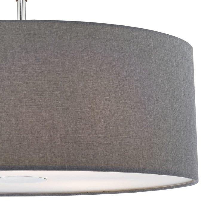 Slate Grey Easy Fit Drum Pendant Shade - 60cm