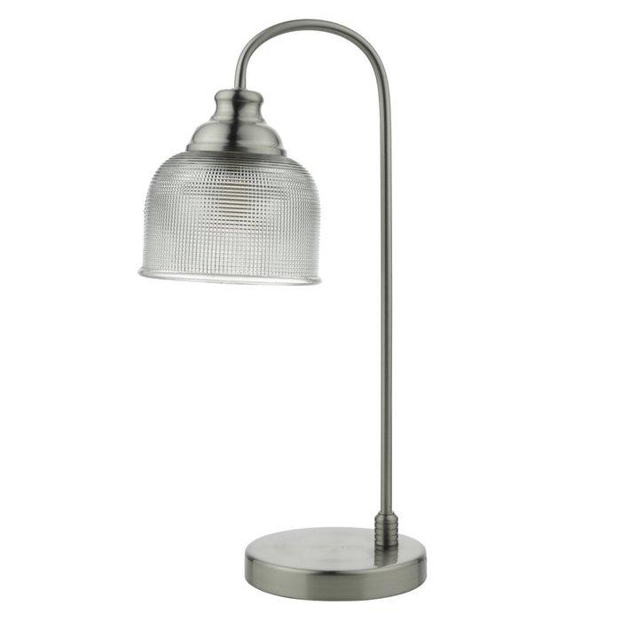 Industrial Nickel Table Lamp