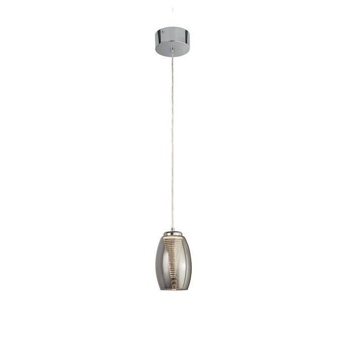 Tornado - Modern LED Pendant - Smoked Glass
