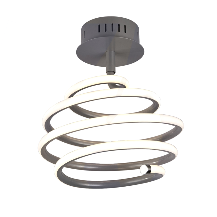 Swirl - Grey LED Spiral Semi Flush Light