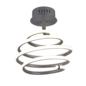 Swirl - Grey LED Spiral Semi Flush Light