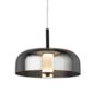 Bjorn - Scandi LED Pendant Light - Smoked Glass & Black